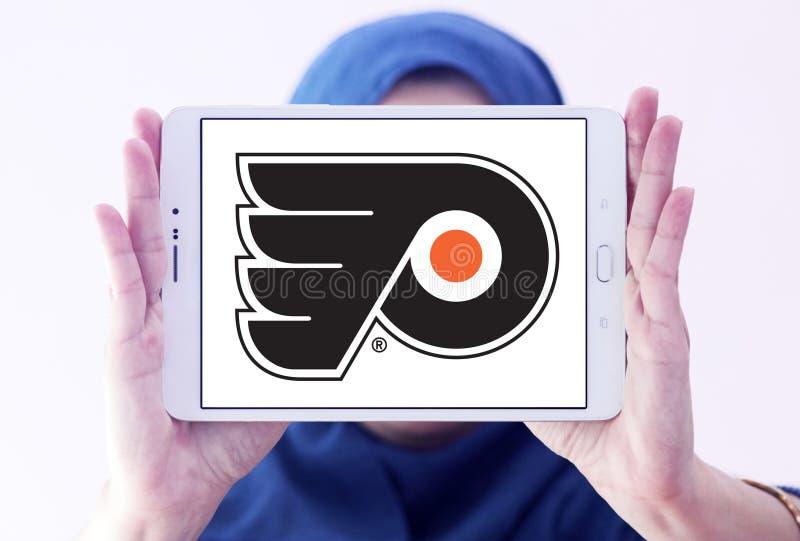 Philadelphia Flyers ice hockey team logo. Logo of Philadelphia Flyers ice hockey team on samsung tablet holded by arab muslim woman. The Philadelphia Flyers are stock photos