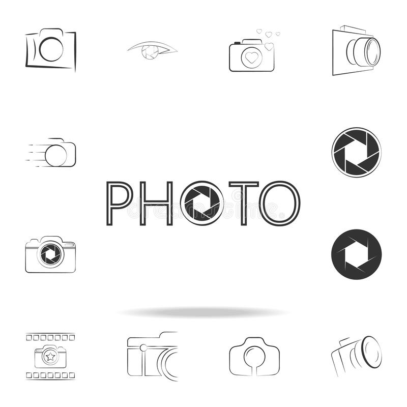 Logo photo icon. Detailed set of photo camera icons. Premium graphic design. One of the collection icons for websites, web design,. Mobile app on white stock illustration