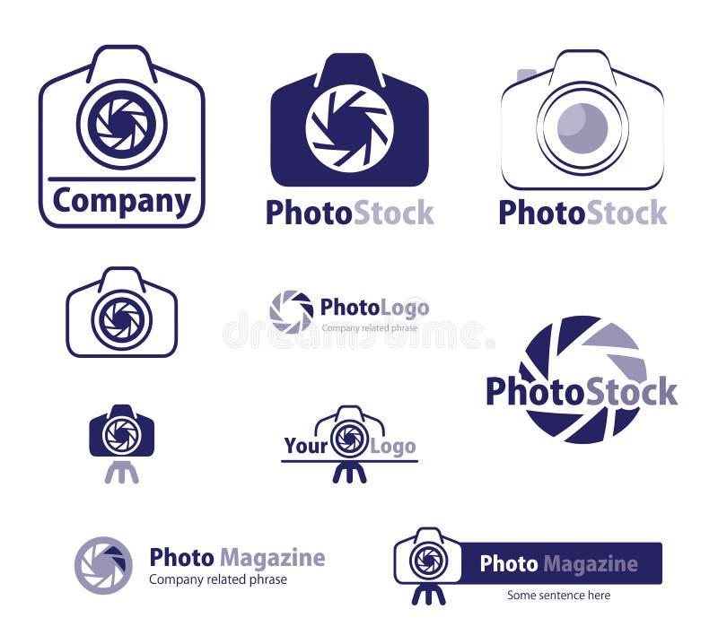 Logo - Photo Stock Icon. Set of camera icon variety depicted on white