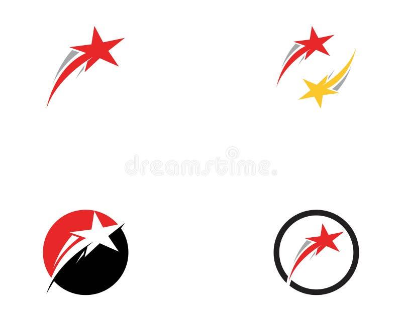 Logo più veloce dell'icona delle stelle illustrazione di stock