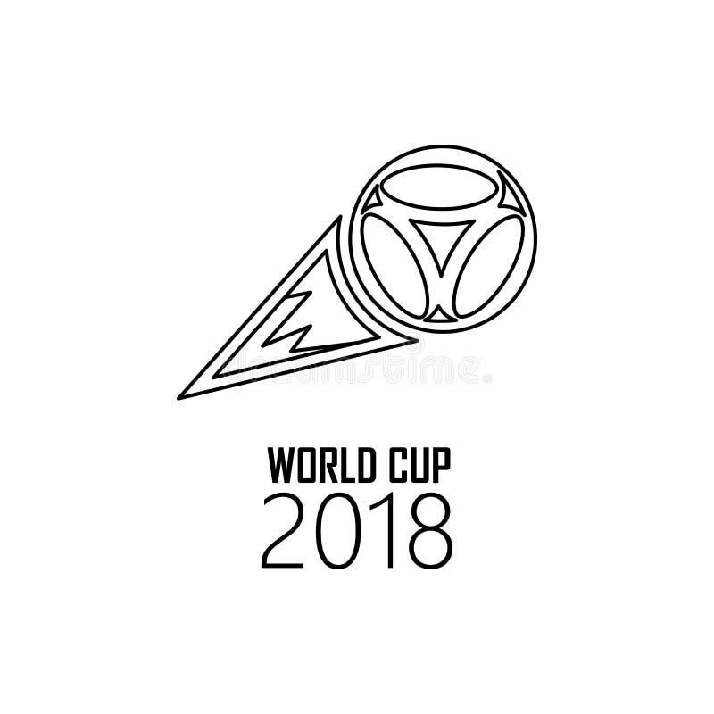 logo piłki latająca 2018 ikona Element piłka nożna puchar świata 2018 dla mobilnych pojęcia i sieci apps Cienieje kreskowego loga ilustracji