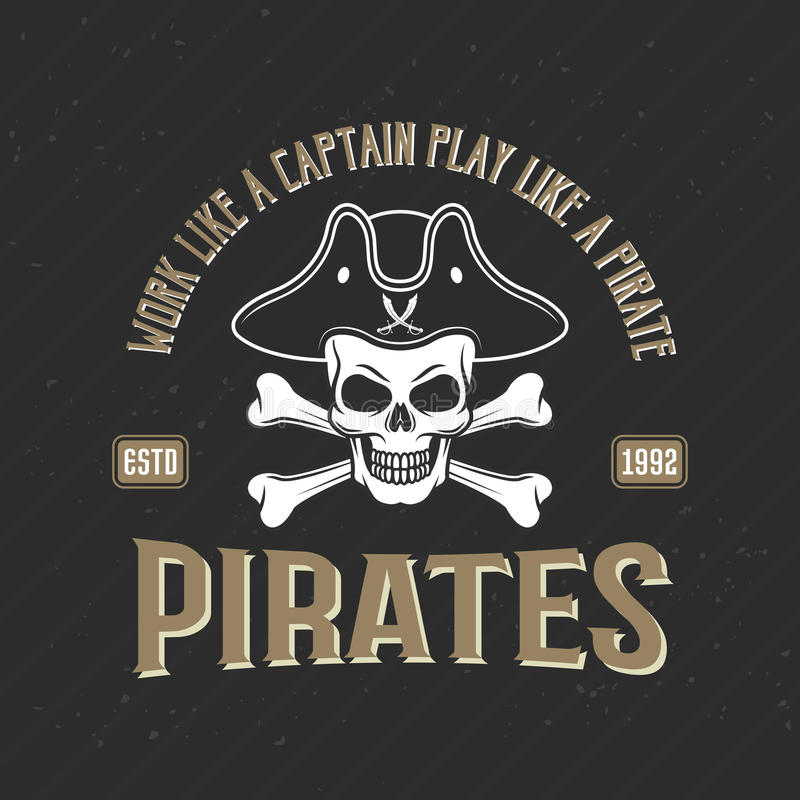 Logo Of Pirates Print illustration libre de droits