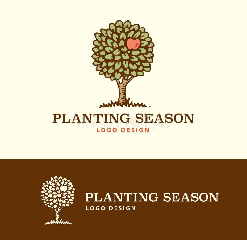 Logo Planting Season stock de ilustración