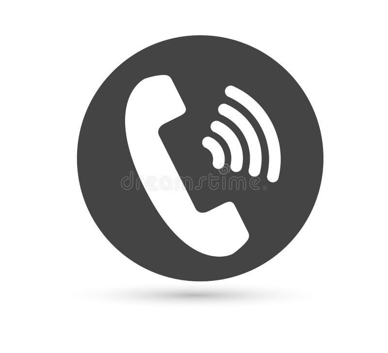 Logo plat de style de vecteur d'icône de vecteur de téléphone Combiné avec l'illustration d'ombre Édition facile de l'illustratio illustration stock