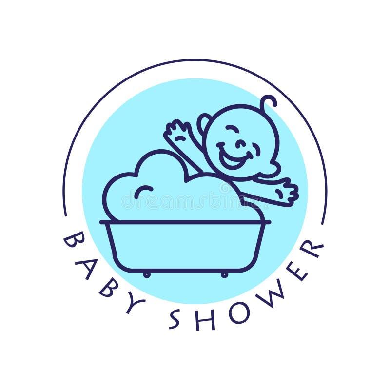 Logo plat simple d'enfant de vecteur illustration libre de droits