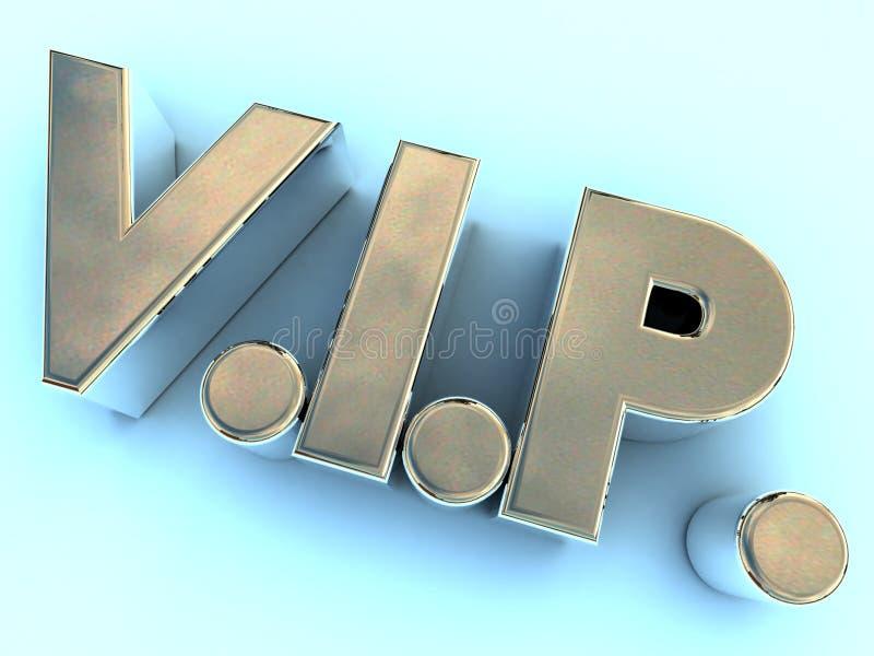 Logo poli en métal VIP illustration de vecteur