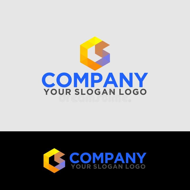 Logo_polygon_letter_C_and_S_02 免版税库存图片