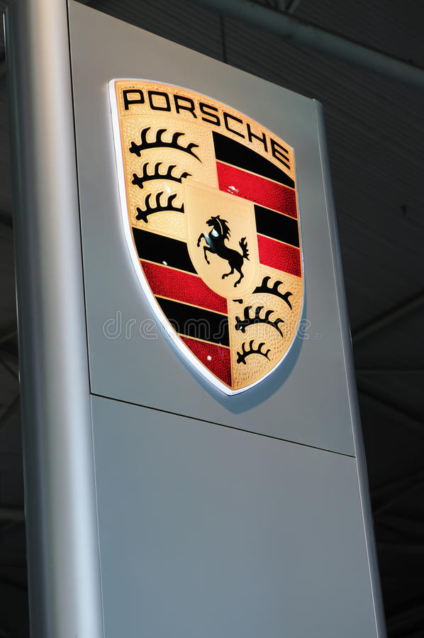 logo Porsche obrazy stock