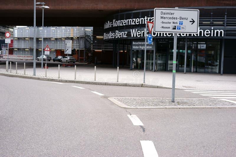 Logo Porsche Arena Stuttgart stockbilder