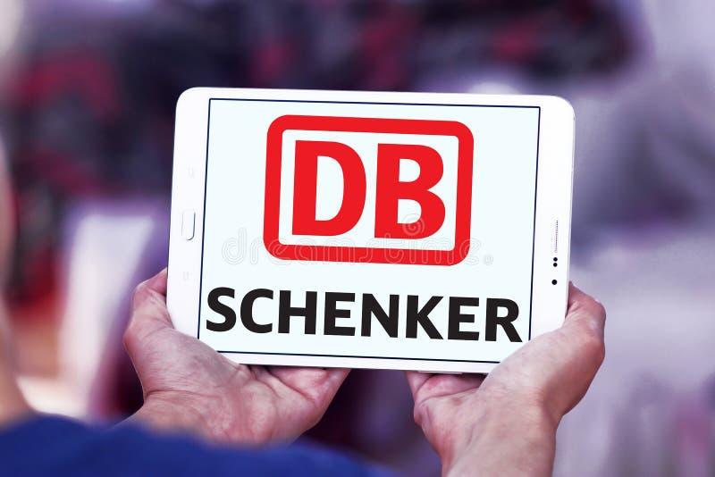 Logo postal de compagnie maritime de DB Schenker photo libre de droits