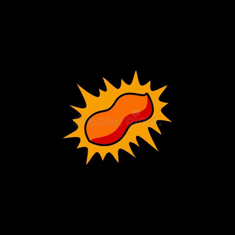 Logo pour arachide brillante illustration stock