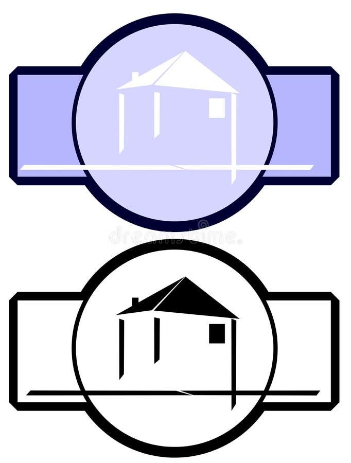 Logo pour des architectes ou de vrais agents immobiliers illustration libre de droits