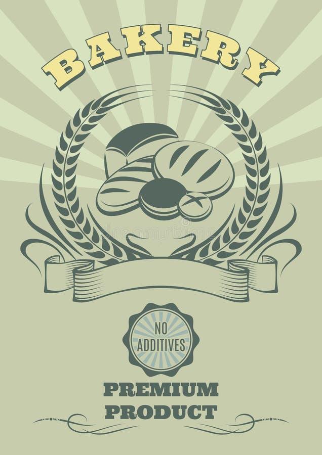 Logo pour la cuisson et l'ensemble de pain illustration libre de droits