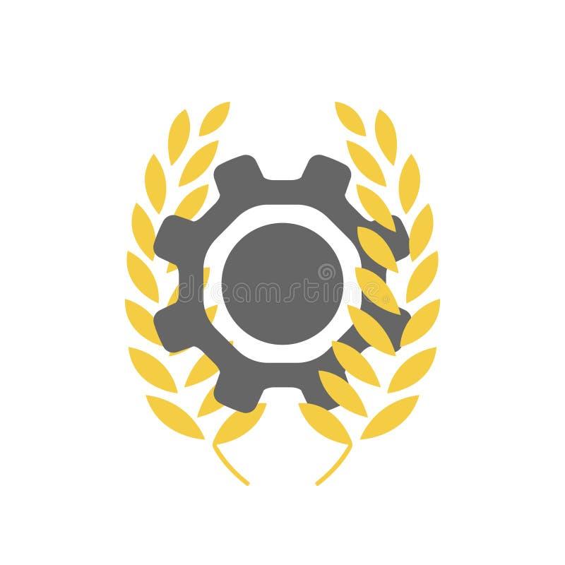 Logo pour la société de traitement agricole ou de nourriture photos libres de droits