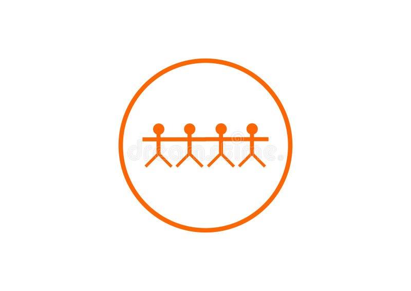 Logo pour le compani illustration de vecteur