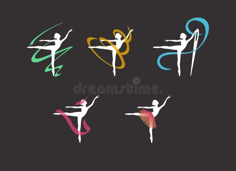 Logo pour un studio de couture, robes pour des ballerines illustration stock