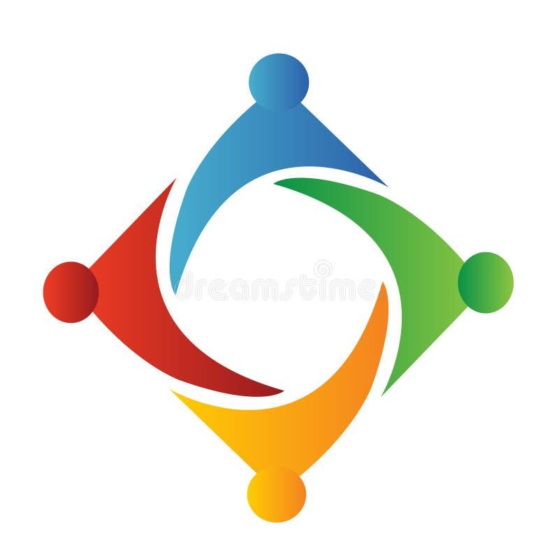 logo prac zespołowych ludzie ilustracja wektor