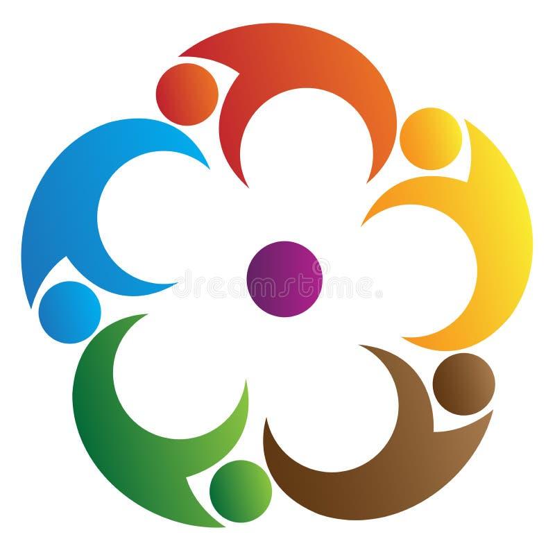 logo praca zespołowa royalty ilustracja