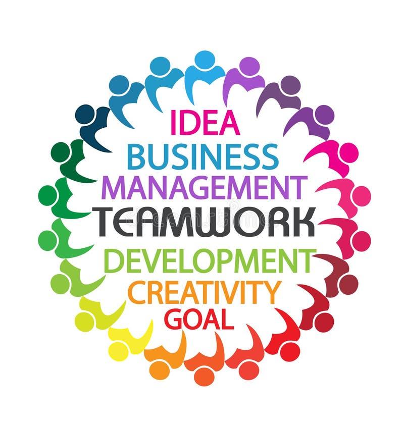 Logo pracy zespołowej ludzie biznesu ilustracji