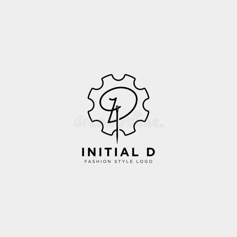 Logo premio di vettore D nel colore dell'oro Bella progettazione del Logotype per marcare a caldo di lusso di modo della società royalty illustrazione gratis