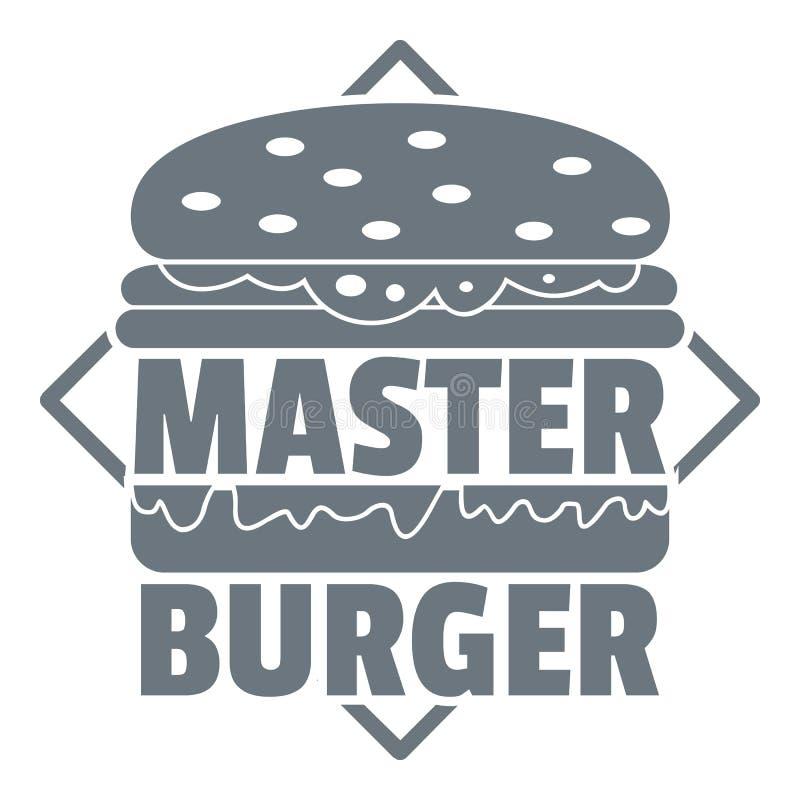 Logo principal d'hamburger, style gris simple illustration de vecteur