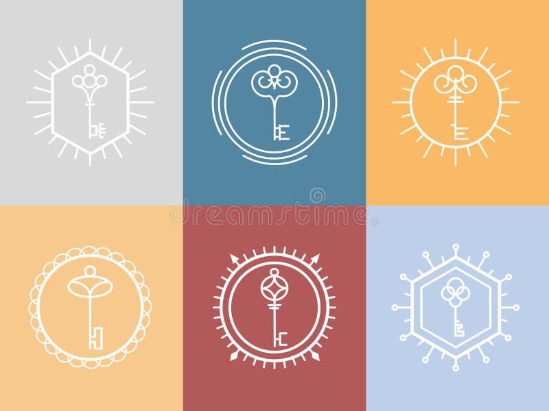 Logo principal dans le style de hippie illustration libre de droits