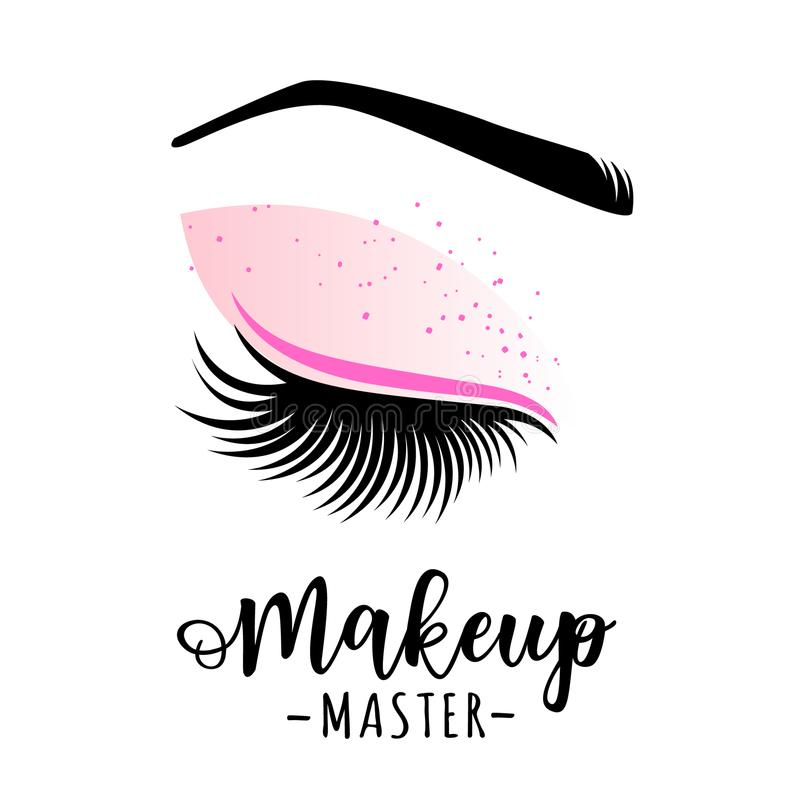 Logo principal de maquillage illustration de vecteur