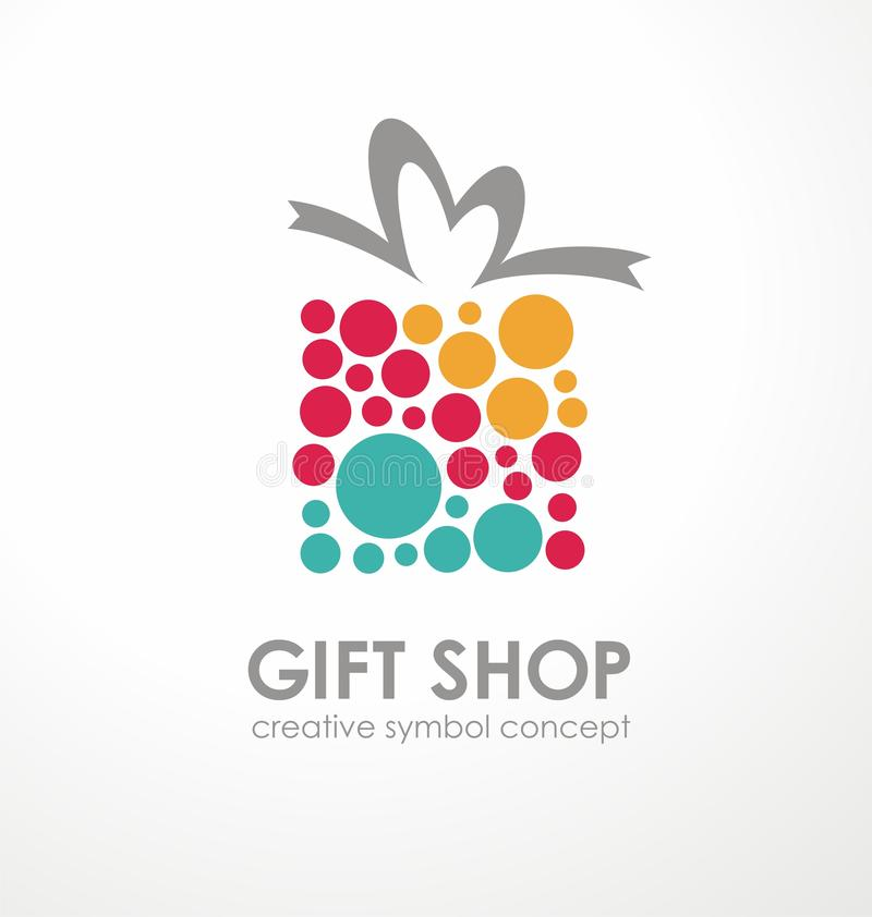 Logo projekt dla prezenta sklepu royalty ilustracja