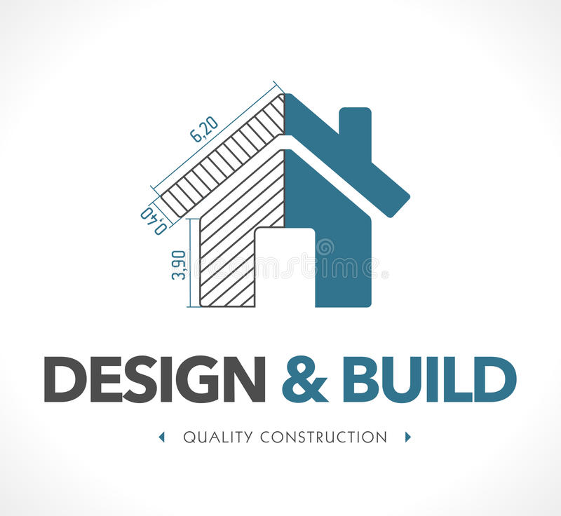Logo - projekt i budowa ilustracja wektor