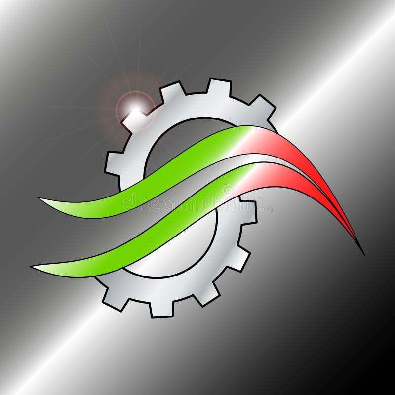 Logo przekładnia z włoskim faborkiem - wektor ilustracja wektor