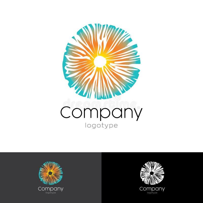 Logo psichedelico basato sul fungo royalty illustrazione gratis
