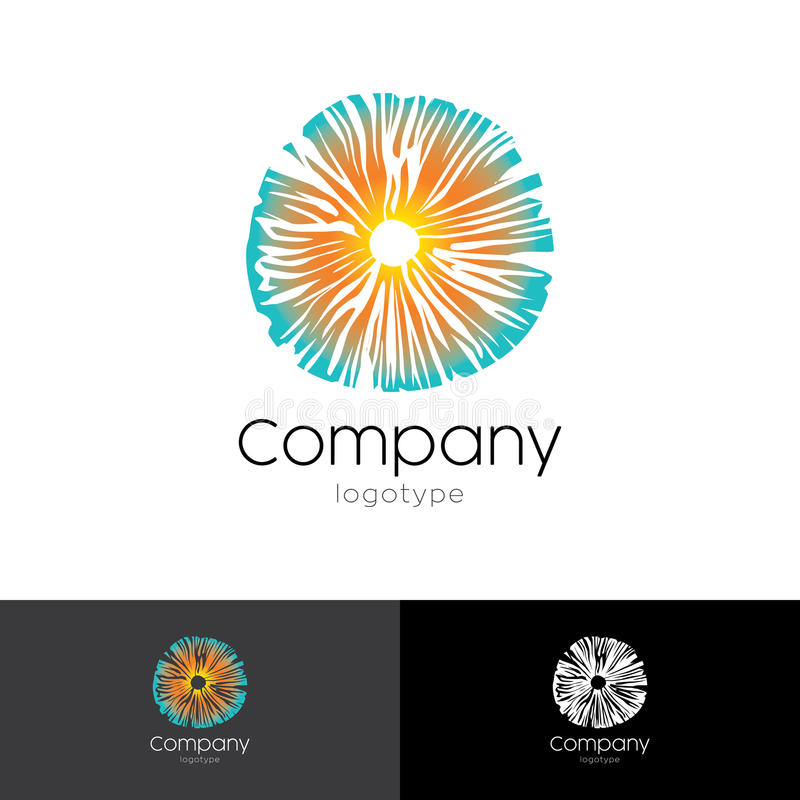 Logo psychédélique basé sur le champignon illustration libre de droits