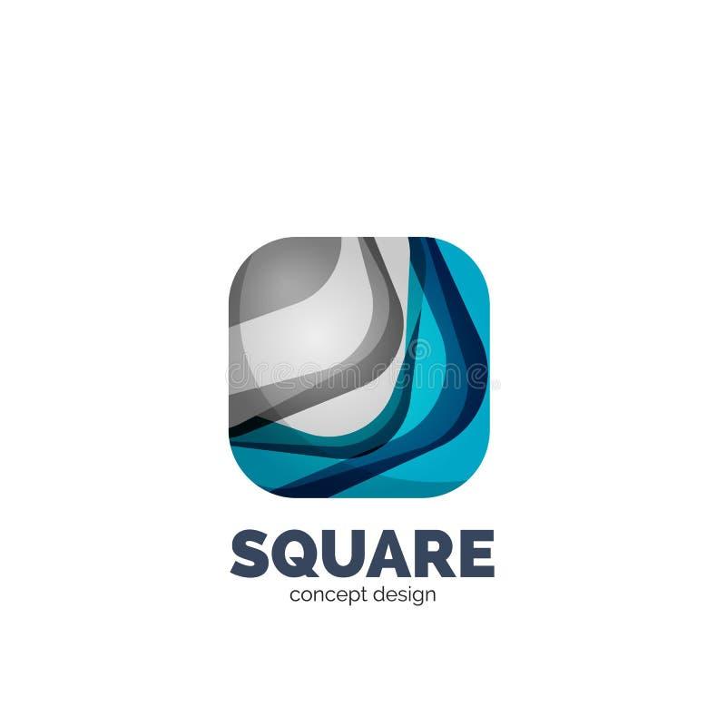 Logo quadrato astratto illustrazione di stock