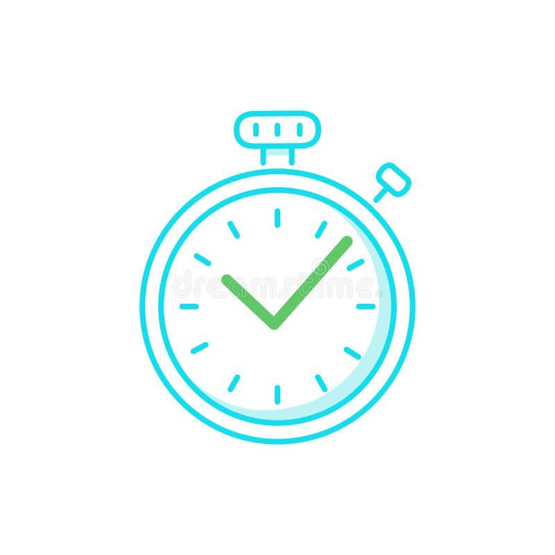 Logo rapide de temps, concept de vitesse de chronomètre, services de la livraison, exprès et urgents rapides illustration de vecteur