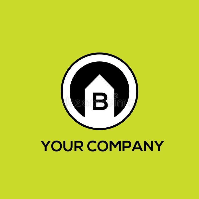 Logo of real estates letter B vector illustration