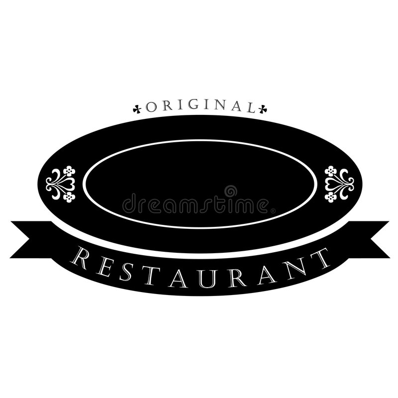logo restauracja royalty ilustracja