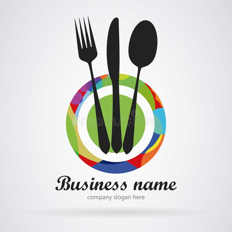 Logo restauracja kolor nowoczesnego ilustracja wektor