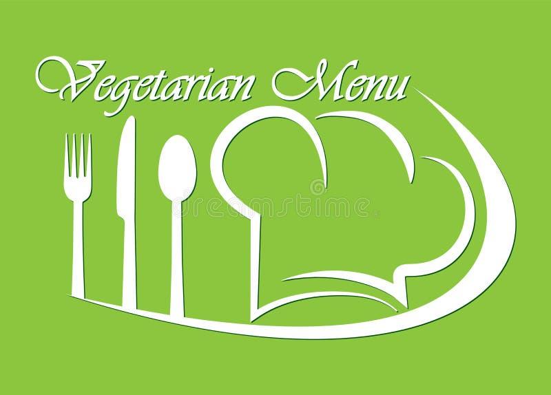 Logo for restaurant, catering or gastro service Vegetarian menu design royalty free illustration