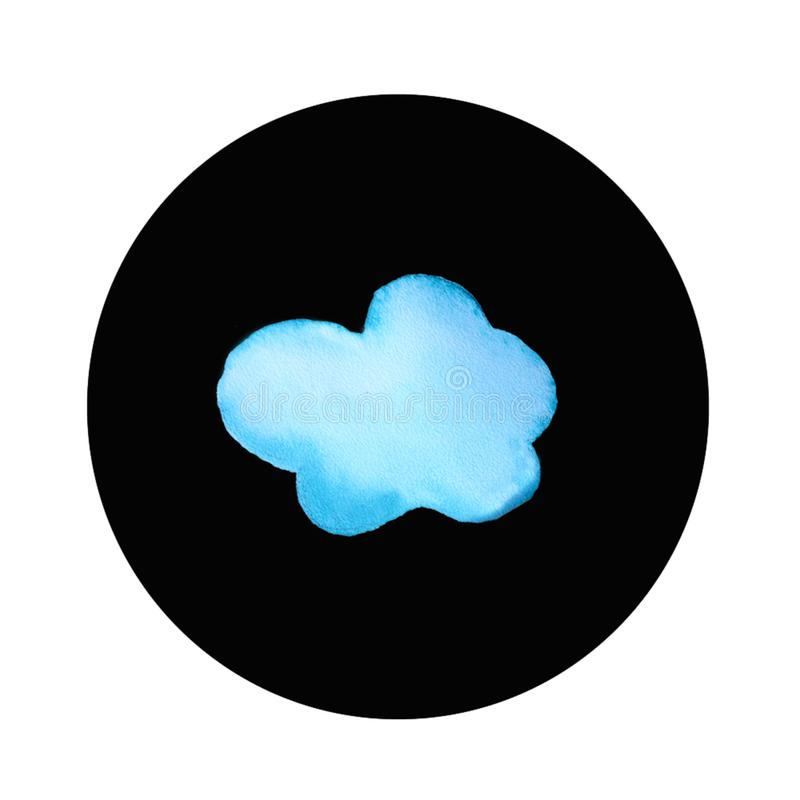 Logo rond de nuage illustration de vecteur
