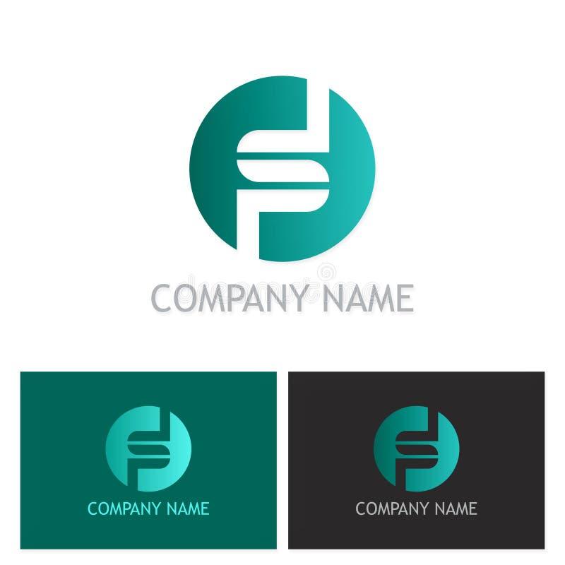 Logo rond de société de la lettre s illustration libre de droits