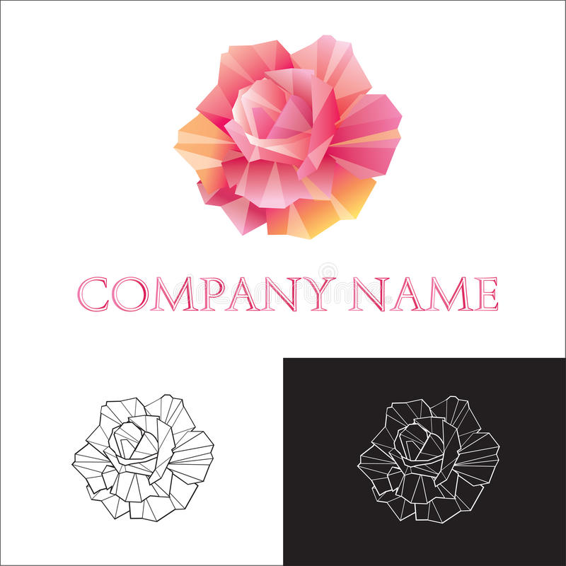 Logo rose. Logo logos logotype rose single illustration red color creativity object
