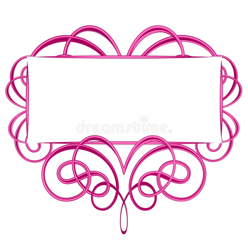 Logo rose décoratif de Flourish illustration libre de droits