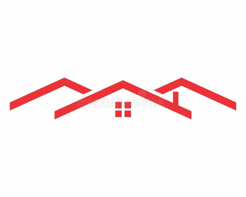 Logo rosso del tetto fotografia stock libera da diritti