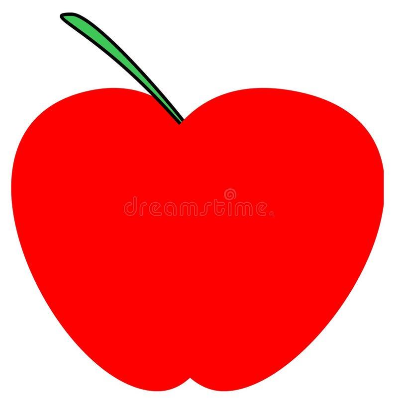 Logo rosso di Apple illustrazione di stock