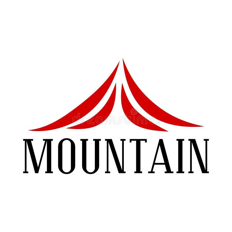 Logo rouge abstrait de montagne photo libre de droits