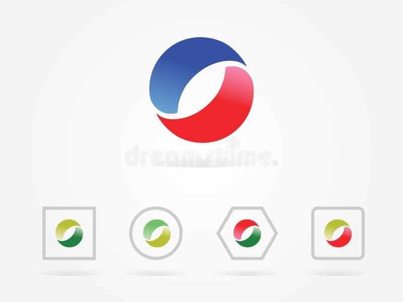 Logo rouge de cercle d'illustration de vecteur illustration stock