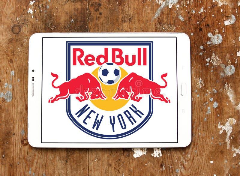 Logo rouge de club du football de taureaux de New York images stock