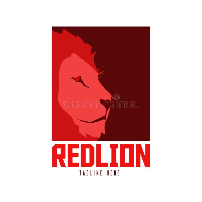 Logo rouge de lion illustration libre de droits