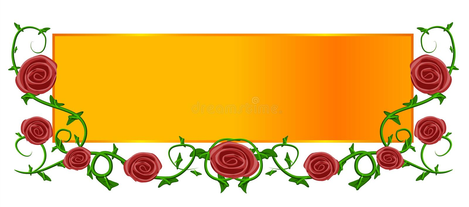 Logo rouge de page Web d'or de Rose illustration libre de droits