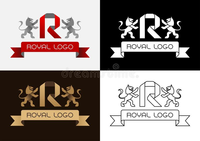 Logo royal illustration stock